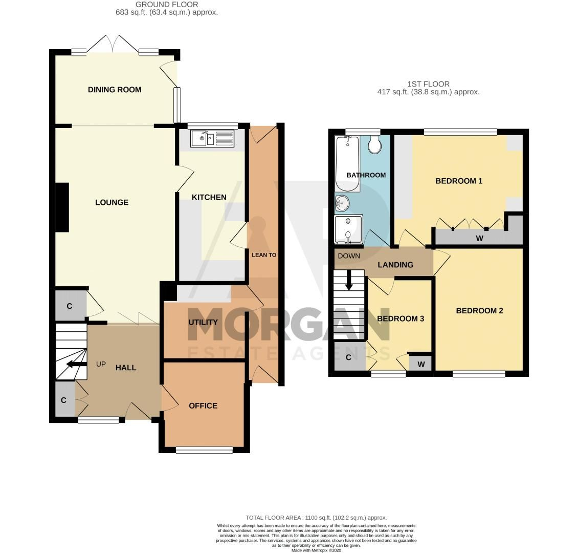 3 bed house for sale in Claines Road - Property Floorplan