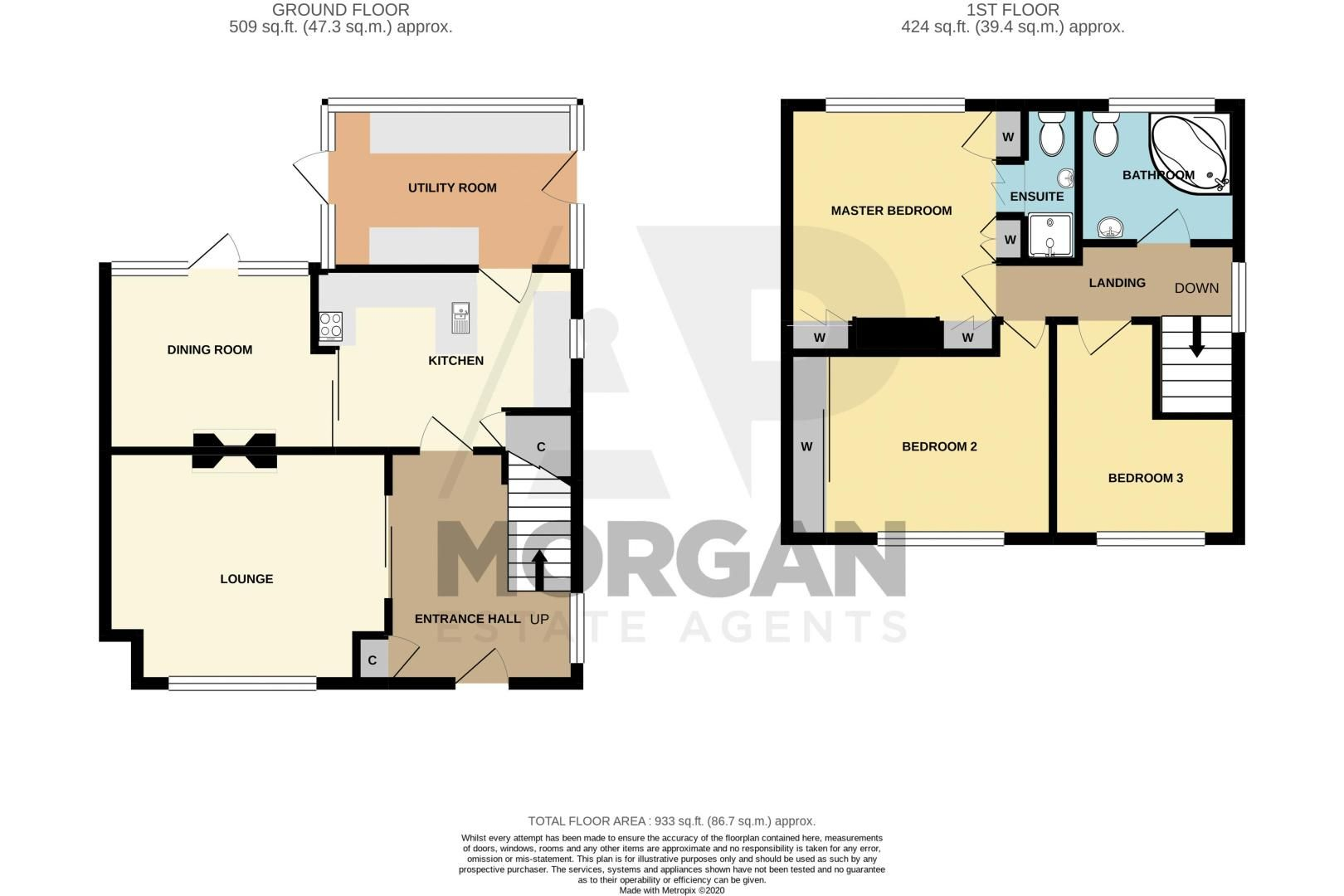 3 bed house for sale in Murcroft Road - Property Floorplan