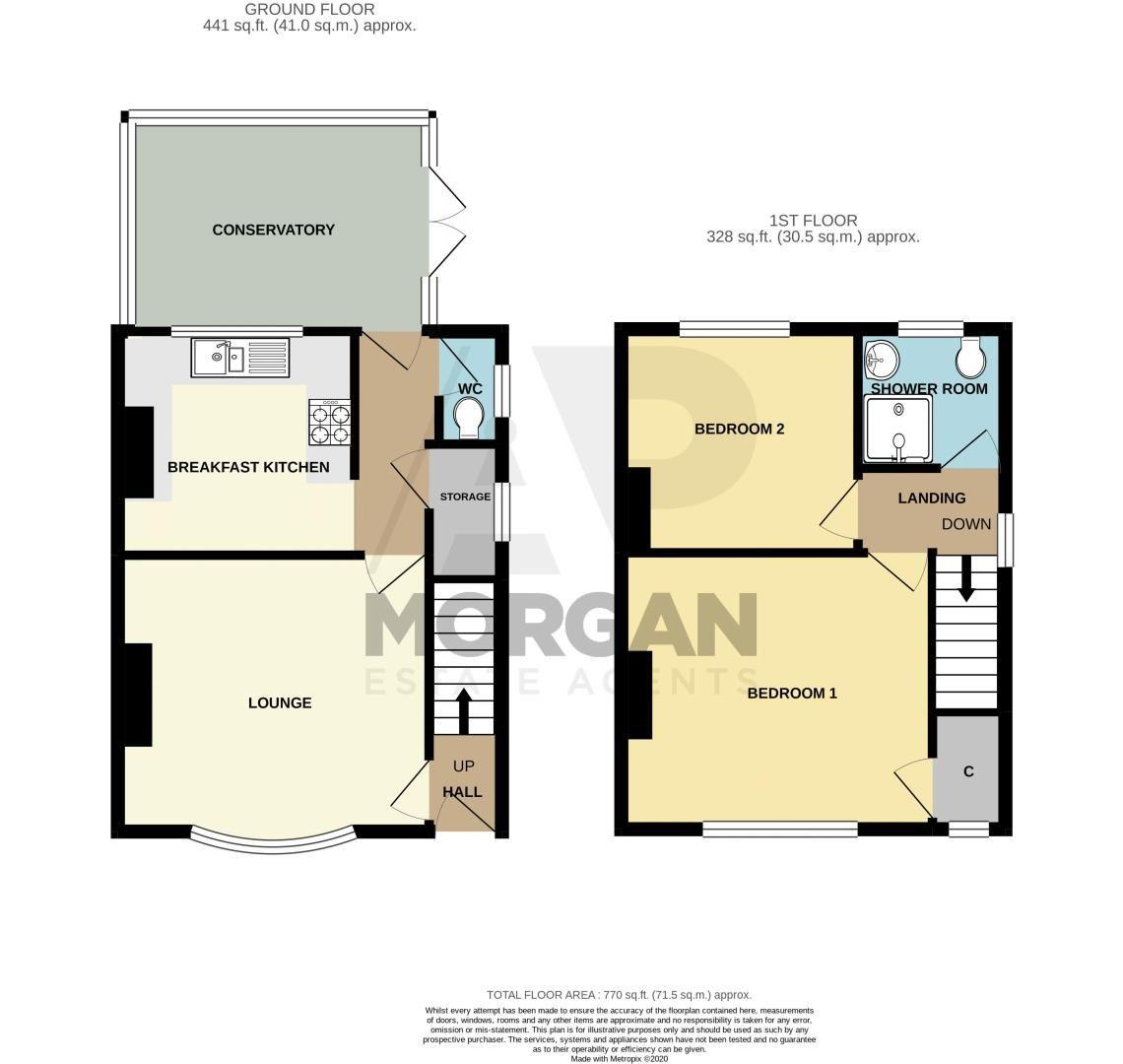2 bed house for sale in Beecher Road East - Property Floorplan