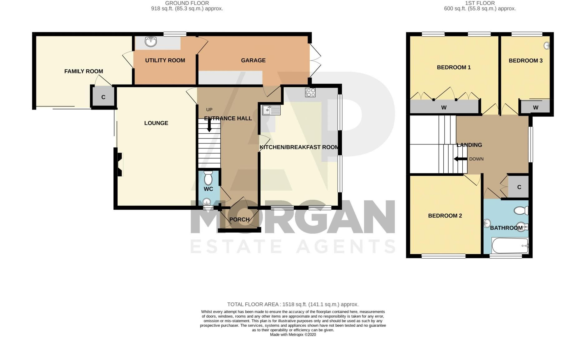 3 bed house for sale in Bowling Green Road - Property Floorplan