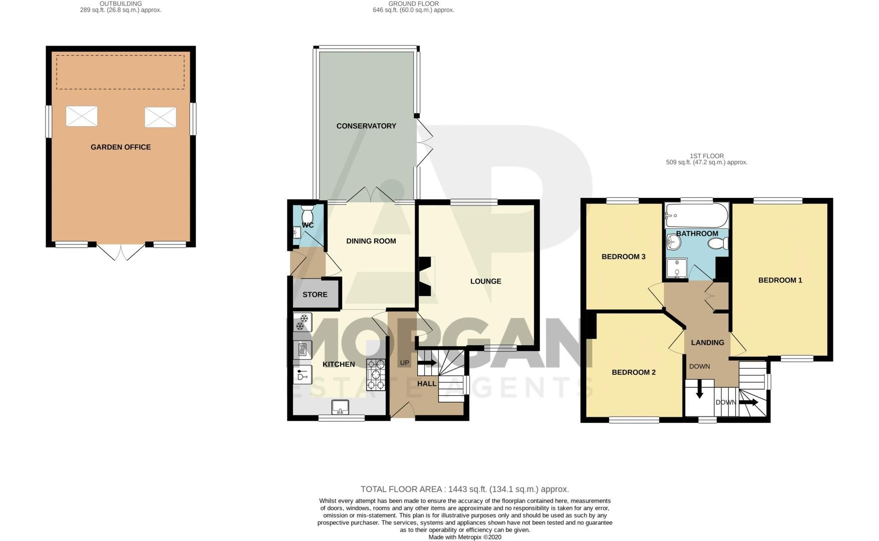 3 bed house for sale in Penmanor - Property Floorplan