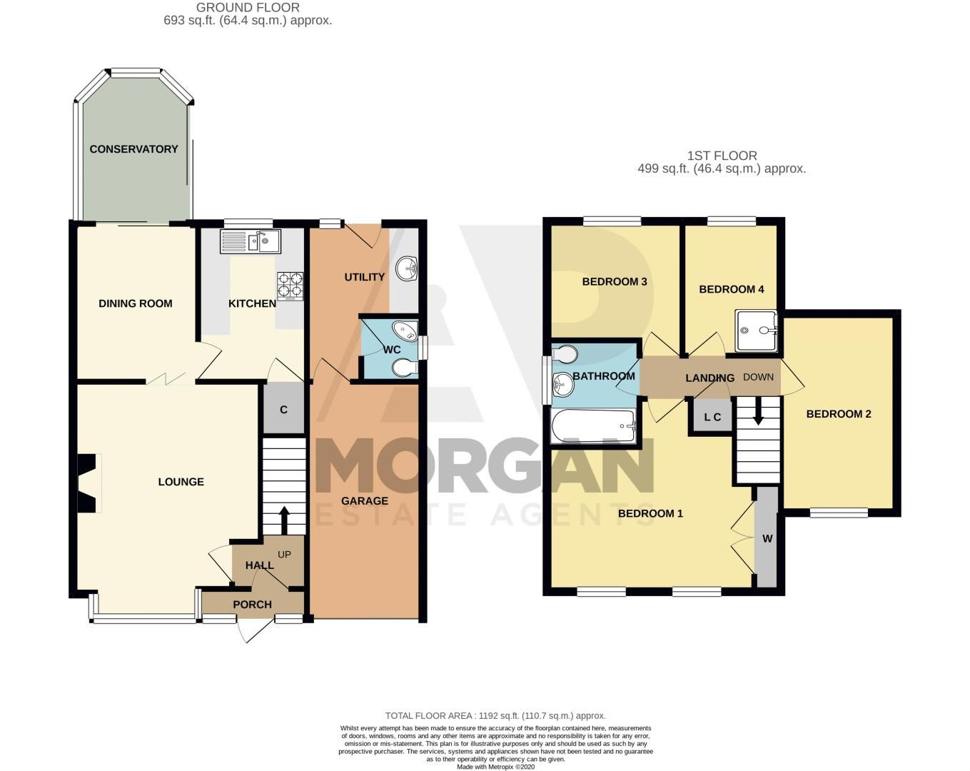 4 bed house for sale in Farndale Close - Property Floorplan