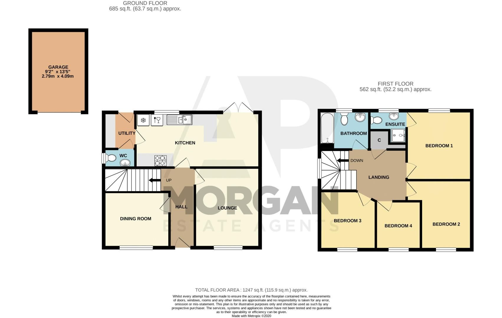 4 bed house for sale in Kimcote Street - Property Floorplan