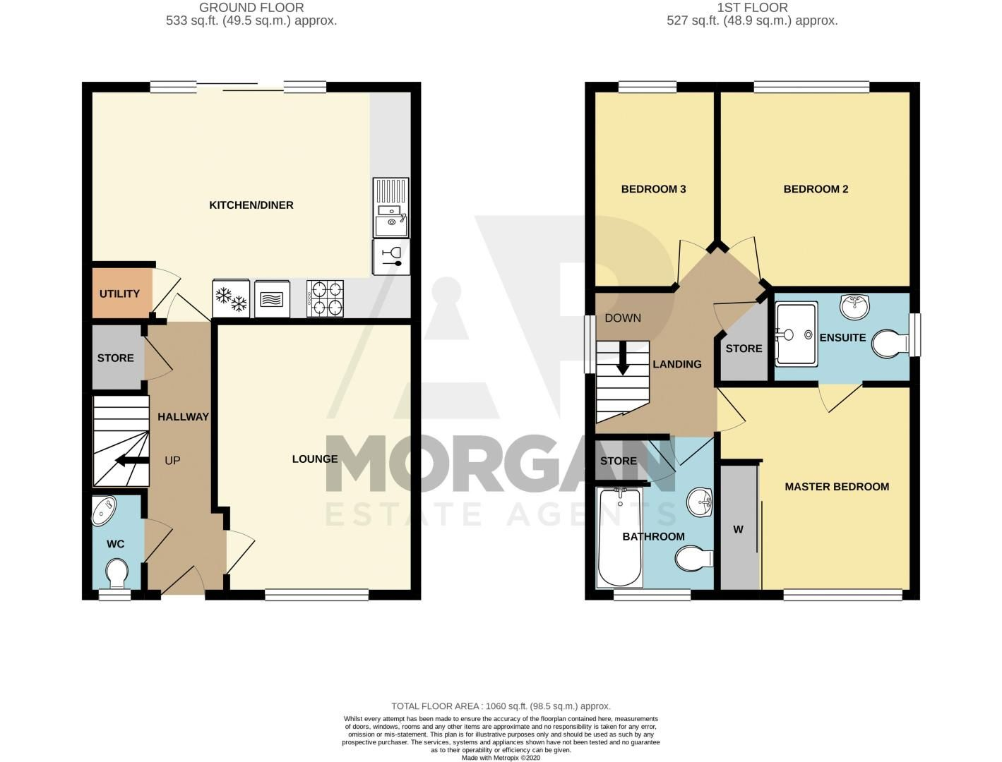 3 bed house for sale in Turntable Avenue - Property Floorplan