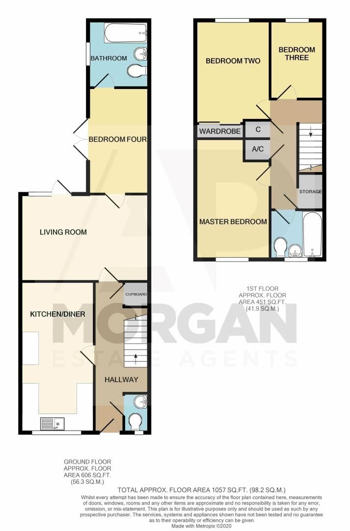 4 bed house for sale in Patch Lane - Property Floorplan