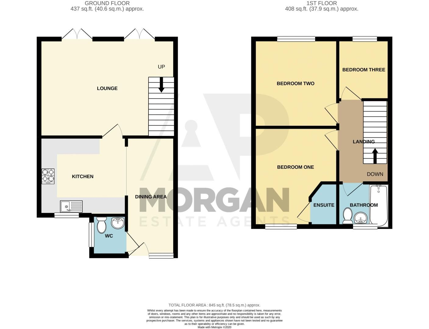 3 bed house for sale in Silverdale - Property Floorplan