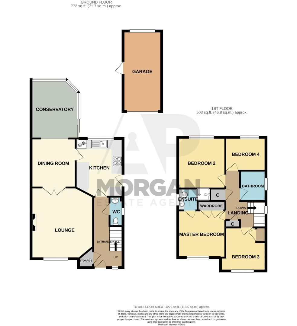4 bed house for sale in Blossom Drive - Property Floorplan