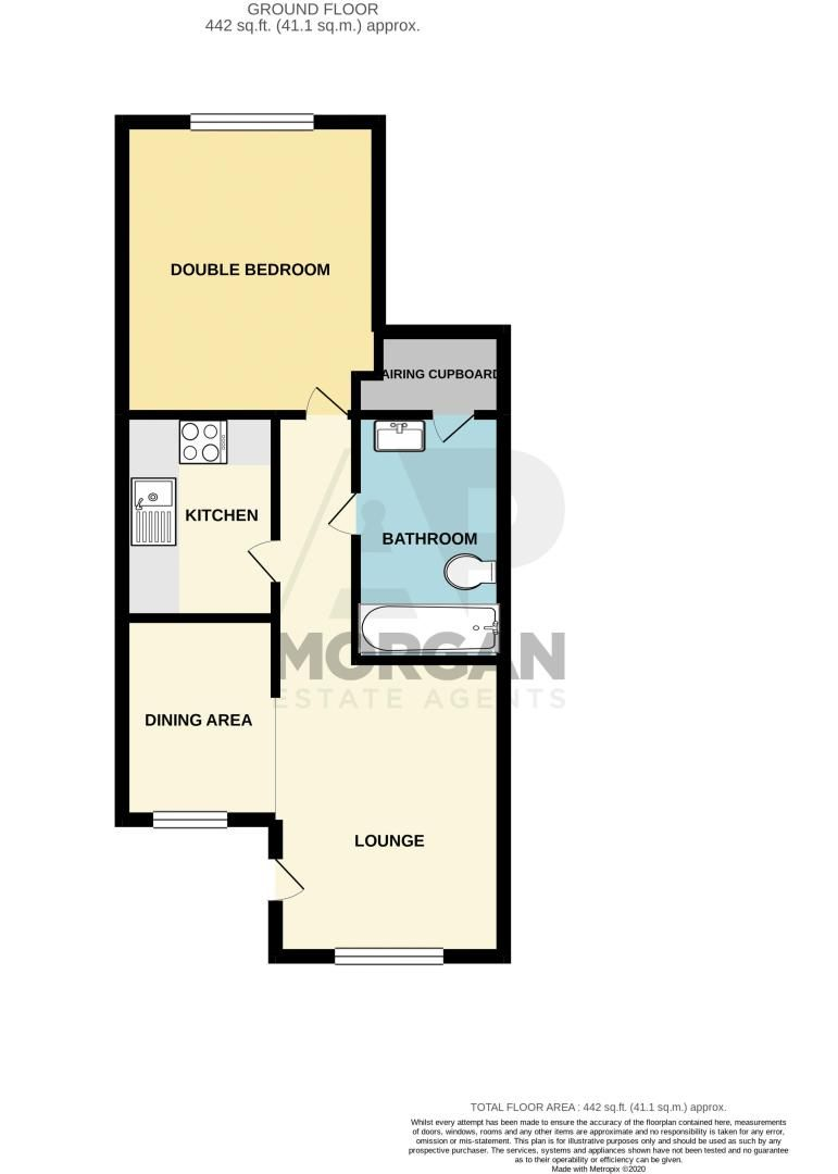 1 bed  for sale in Well Close - Property Floorplan