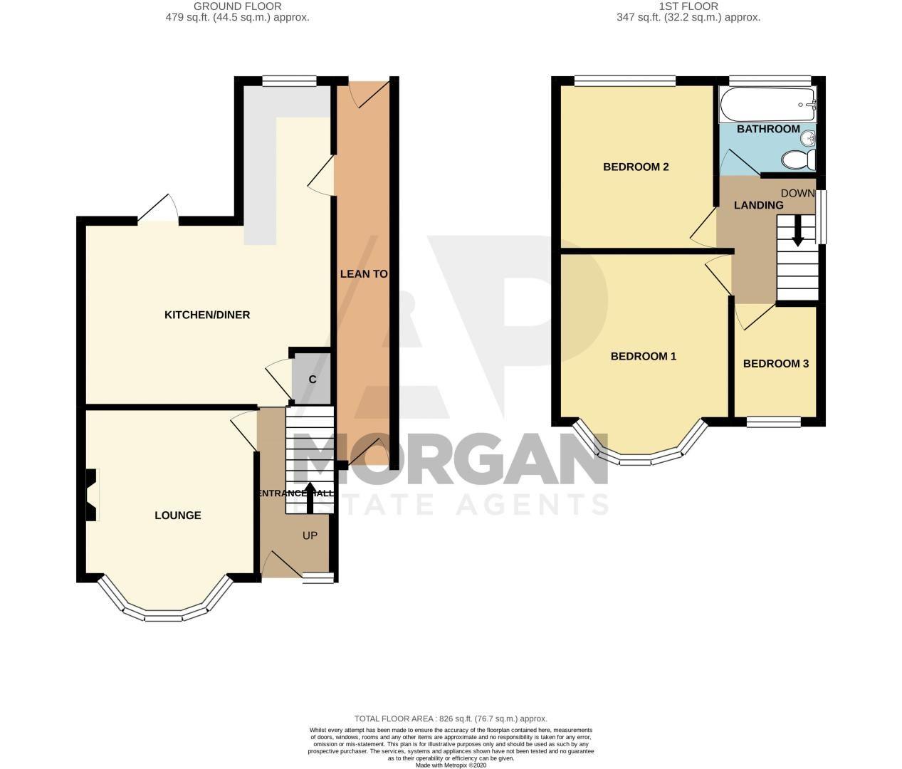 3 bed house for sale in Lyttleton Avenue - Property Floorplan