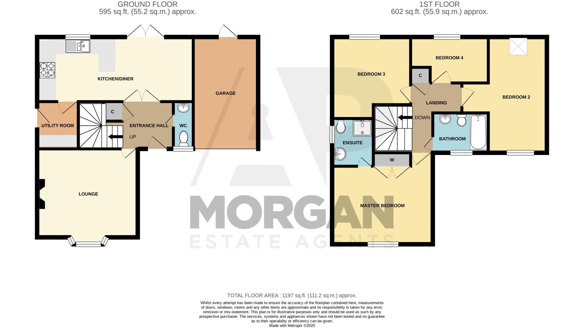 4 bed house for sale in Parklands Close - Property Floorplan