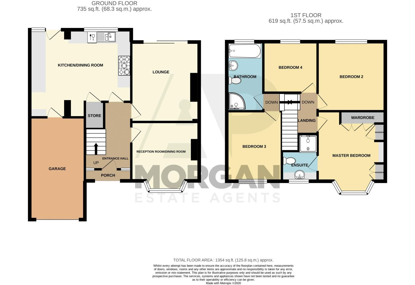 4 bed house for sale in Marlborough Avenue - Property Floorplan