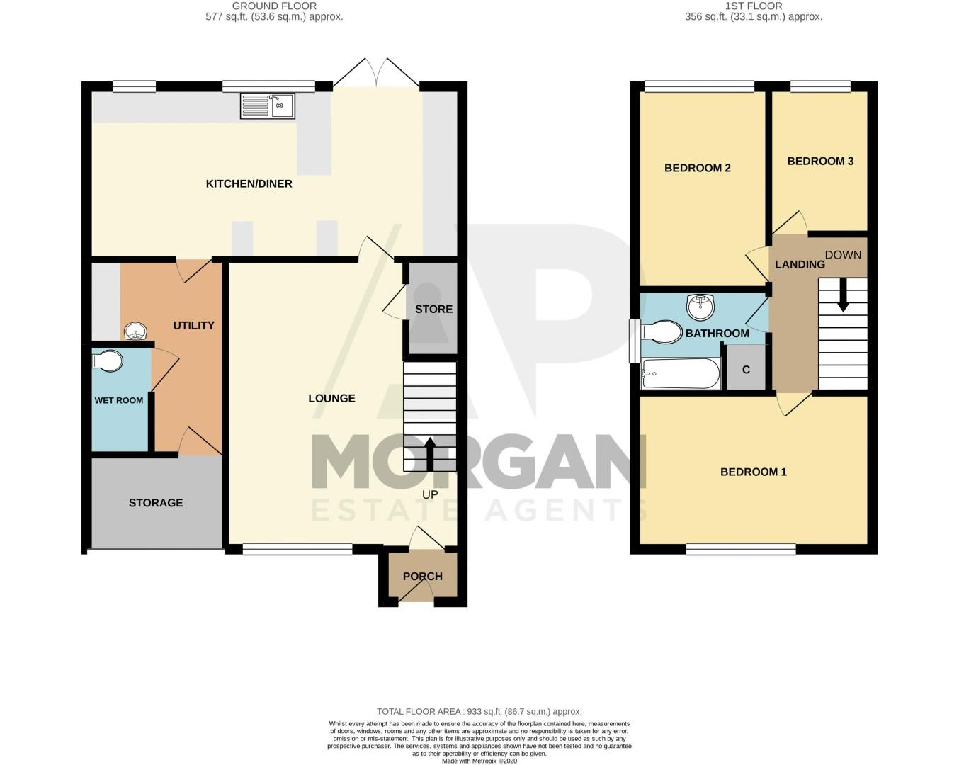 3 bed house for sale in Hern Road - Property Floorplan