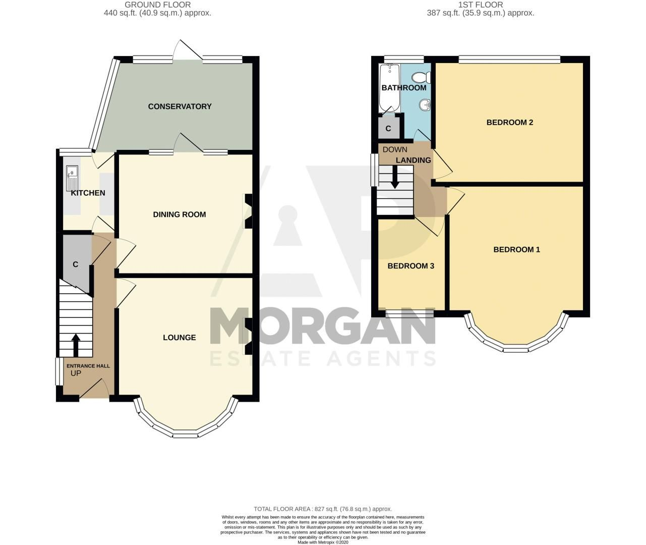 3 bed house for sale in Park Road West - Property Floorplan