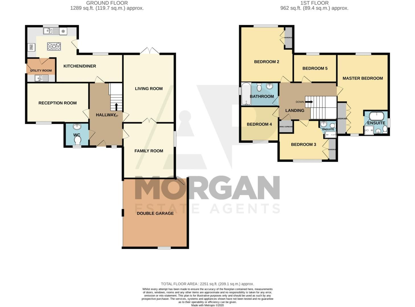 5 bed house for sale in Green Bower Drive - Property Floorplan