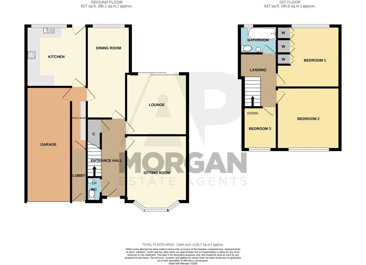 3 bed house for sale in Douglas Road - Property Floorplan