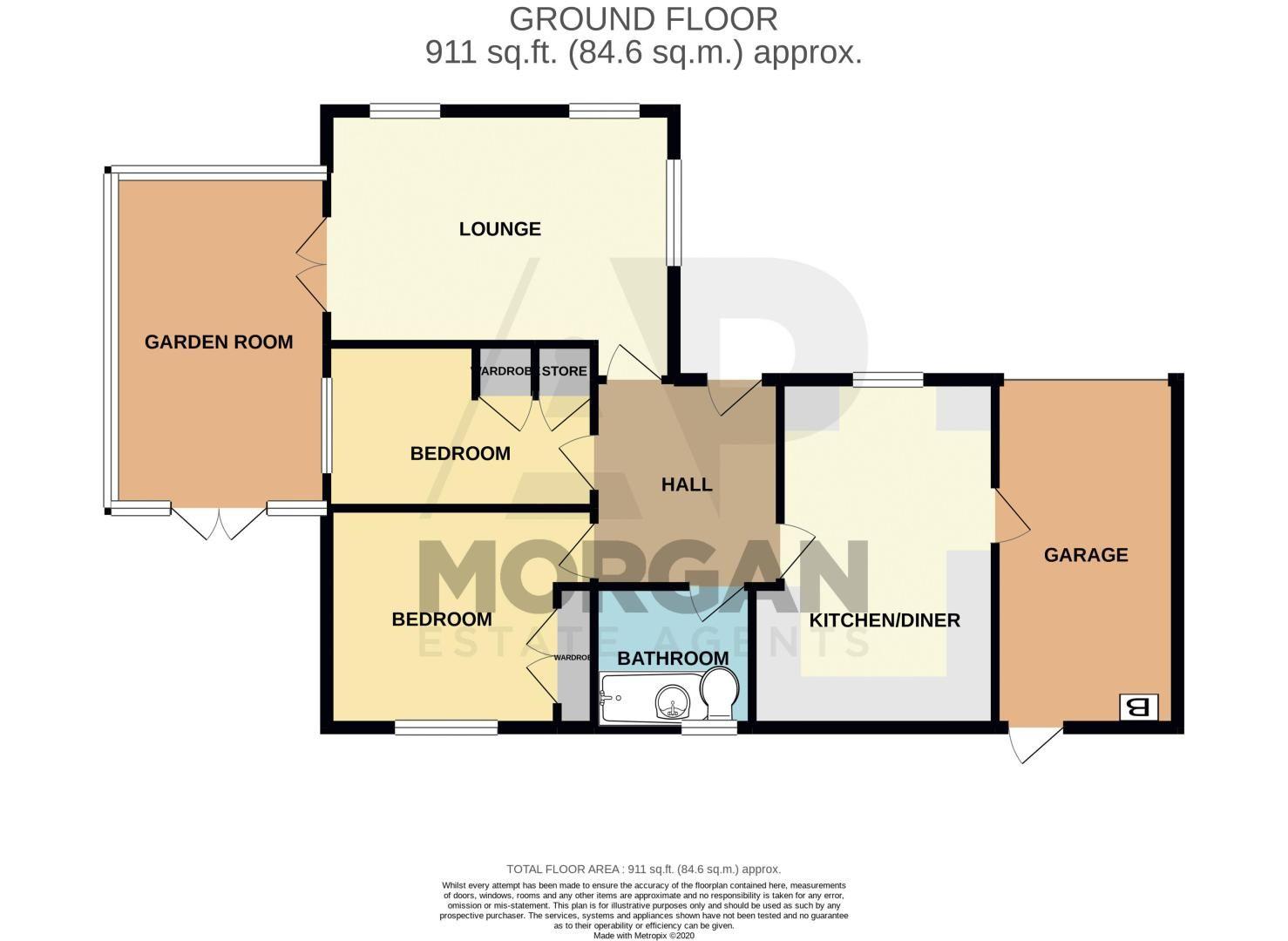 2 bed bungalow for sale in Wicket Lane - Property Floorplan