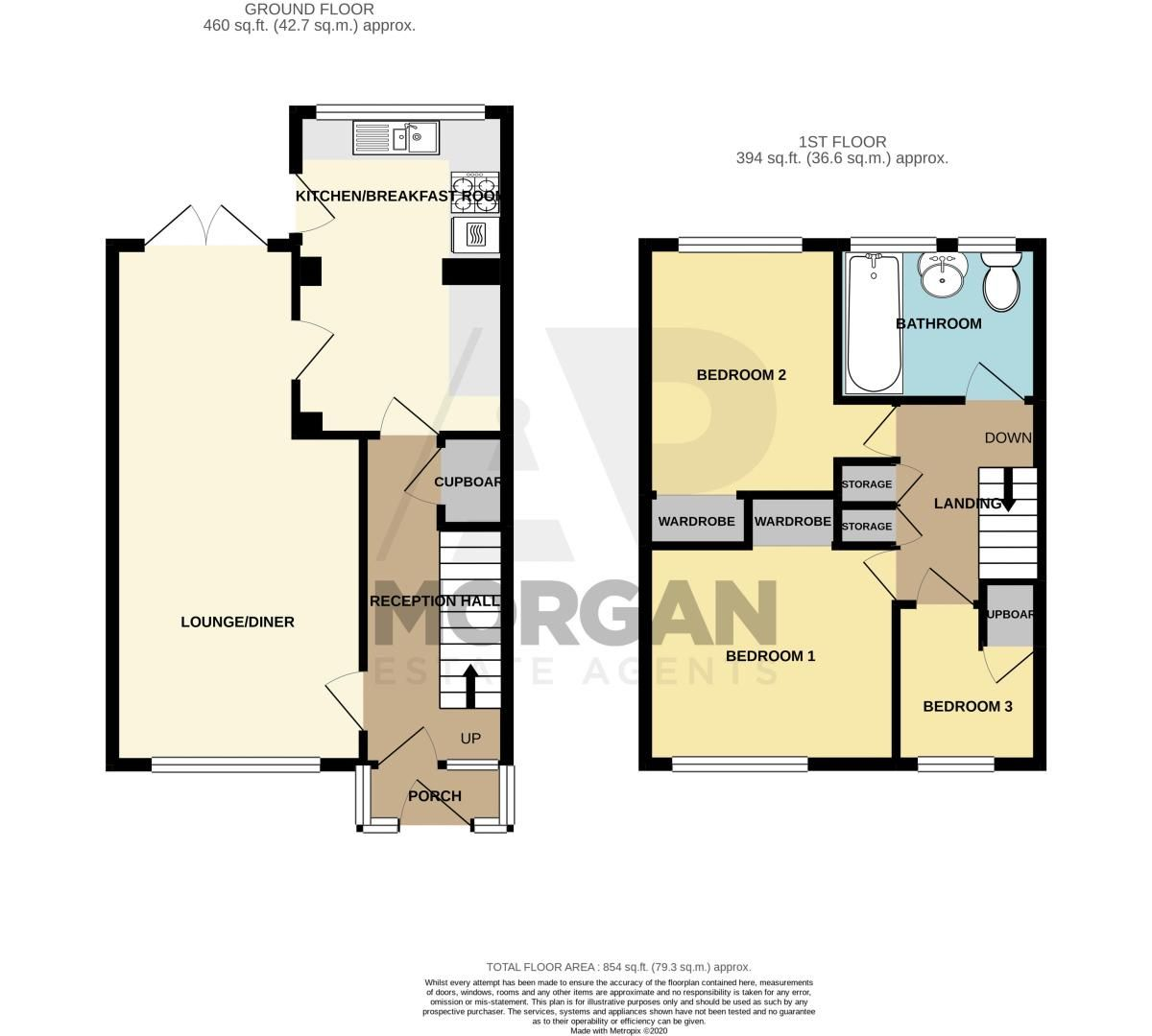 3 bed house for sale in Woodend Close - Property Floorplan