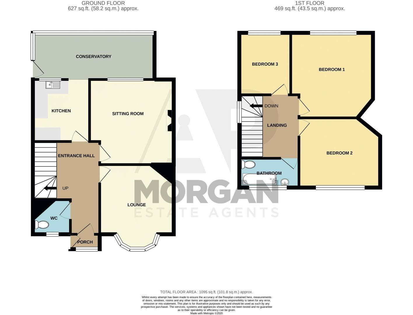 3 bed house for sale in Perry Park Road - Property Floorplan