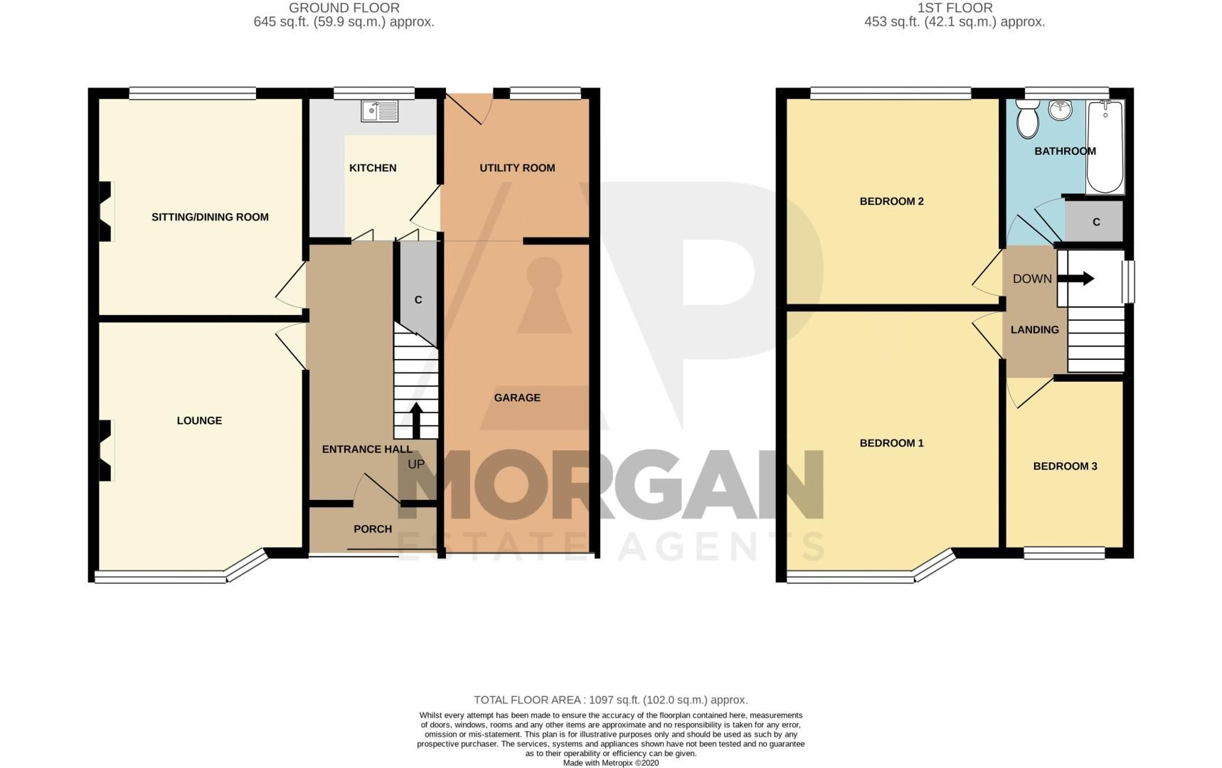 3 bed house for sale in Whittingham Road - Property Floorplan