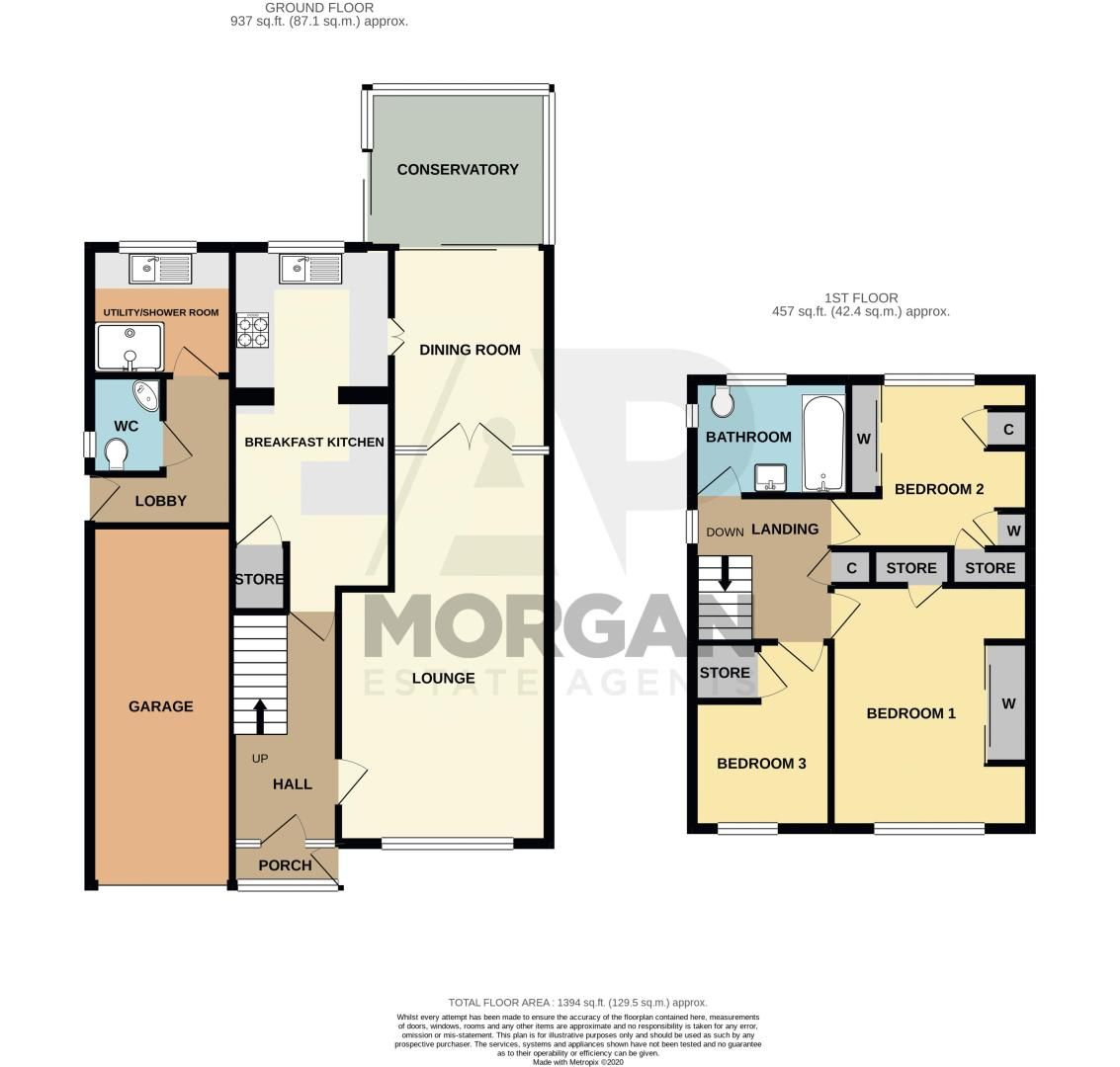 3 bed house for sale in Leadbetter Drive - Property Floorplan