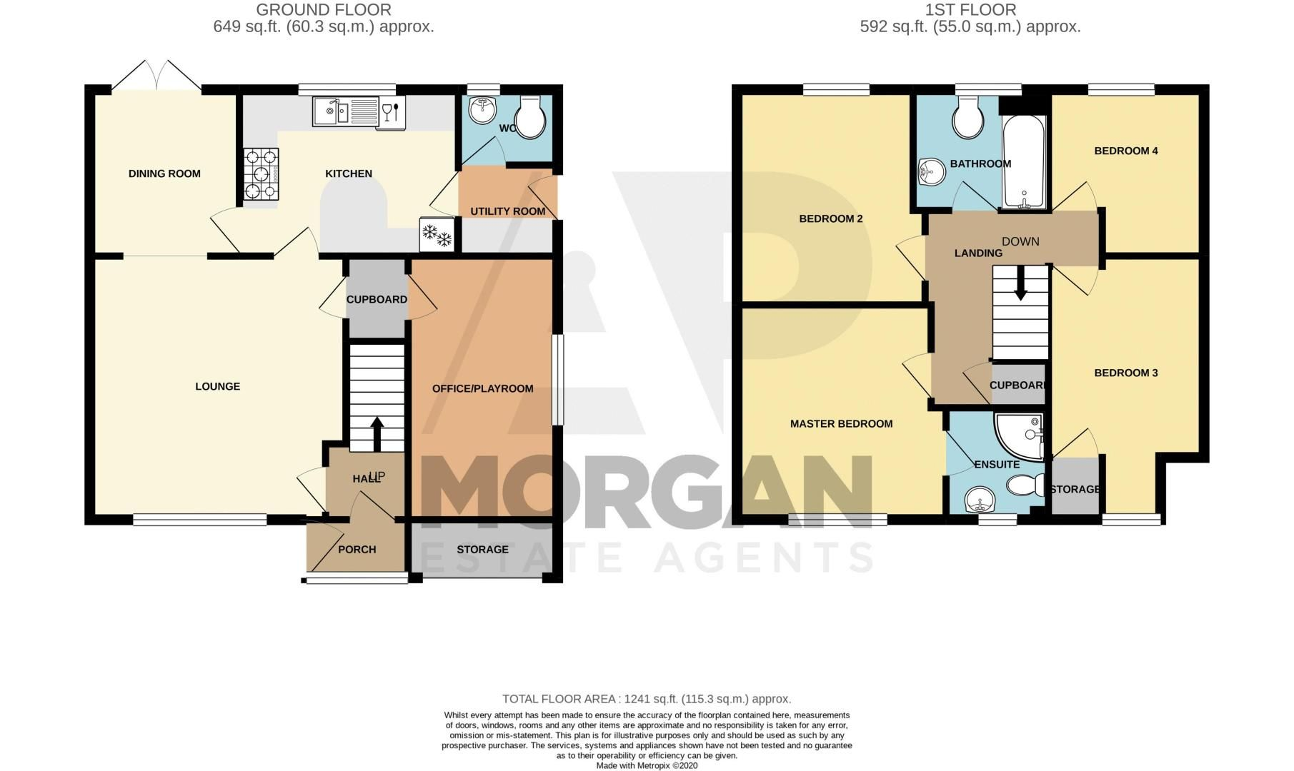 4 bed house for sale in Papworth Drive - Property Floorplan