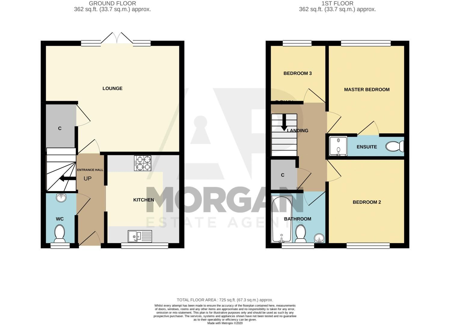 3 bed house for sale in Bottle Kiln Rise - Property Floorplan