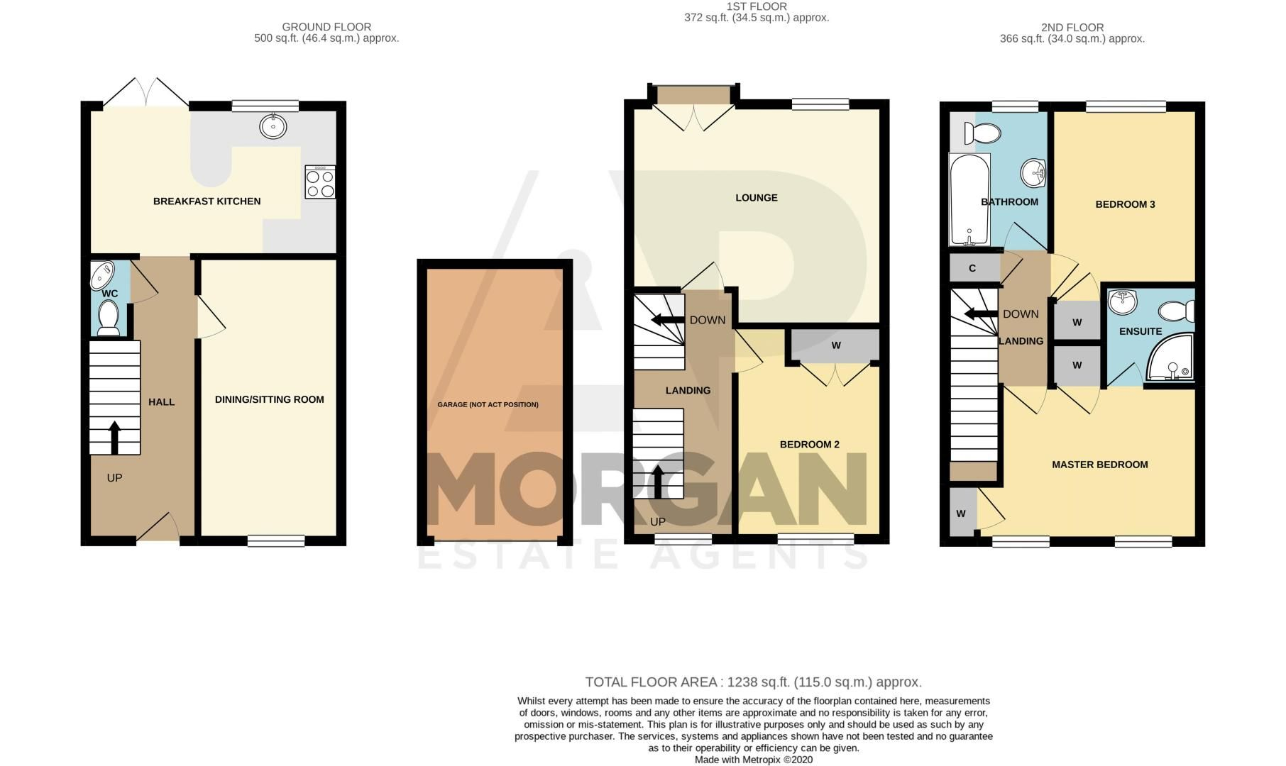 3 bed house for sale in Holly Court - Property Floorplan