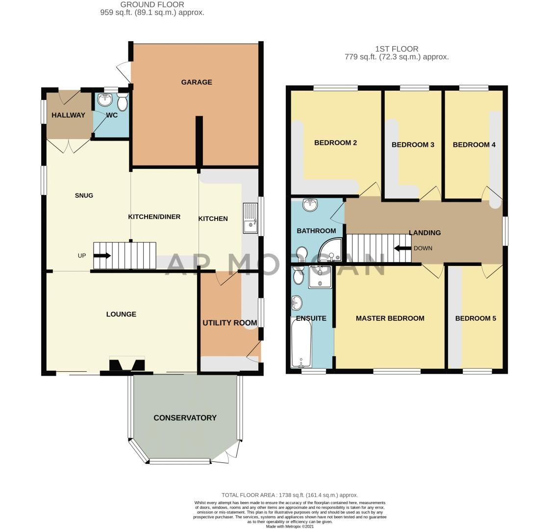 5 bed house for sale in County Park Avenue - Property Floorplan