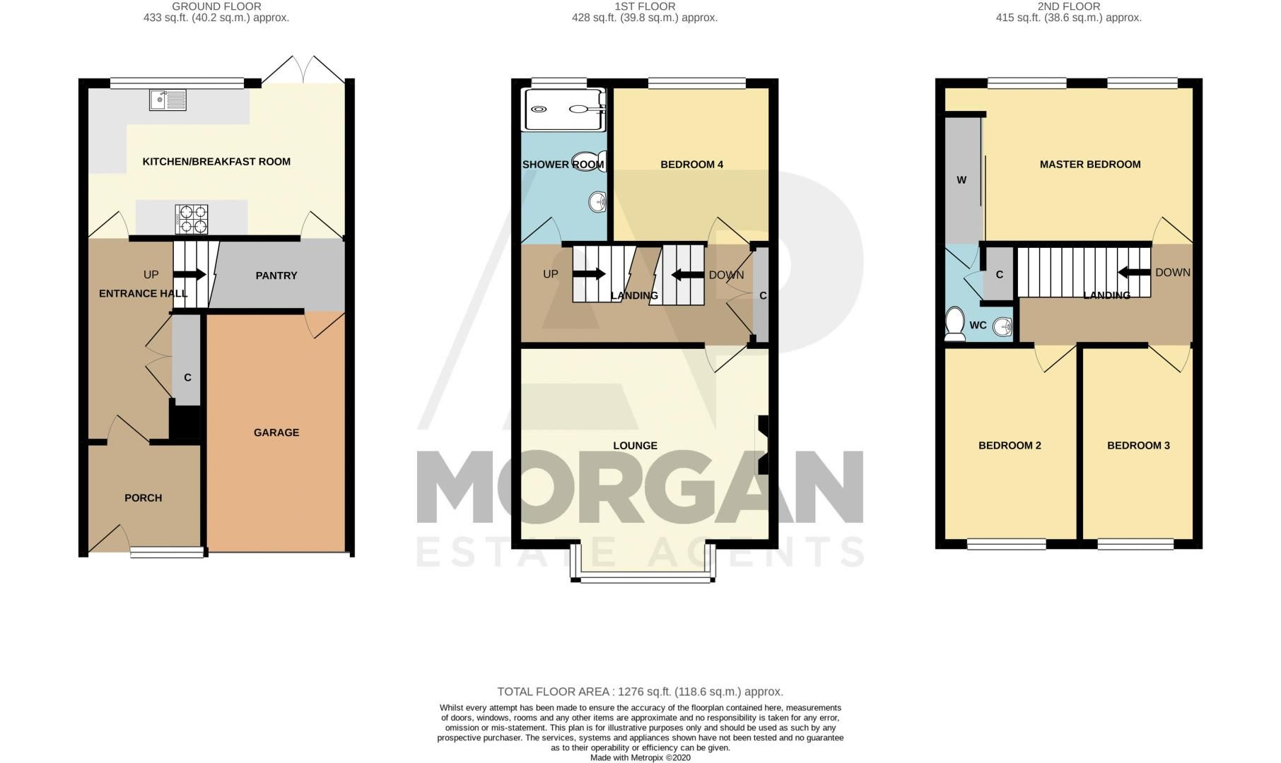 4 bed house for sale in Blakedown Road - Property Floorplan