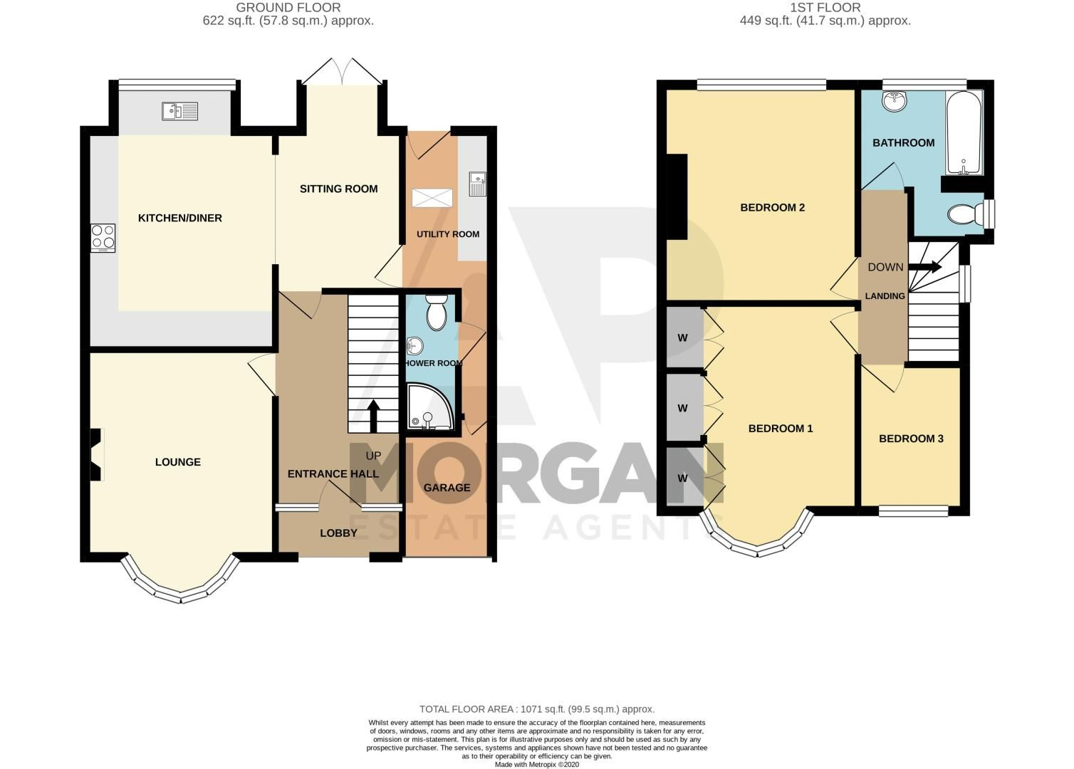 3 bed house for sale in Royal Oak Road - Property Floorplan