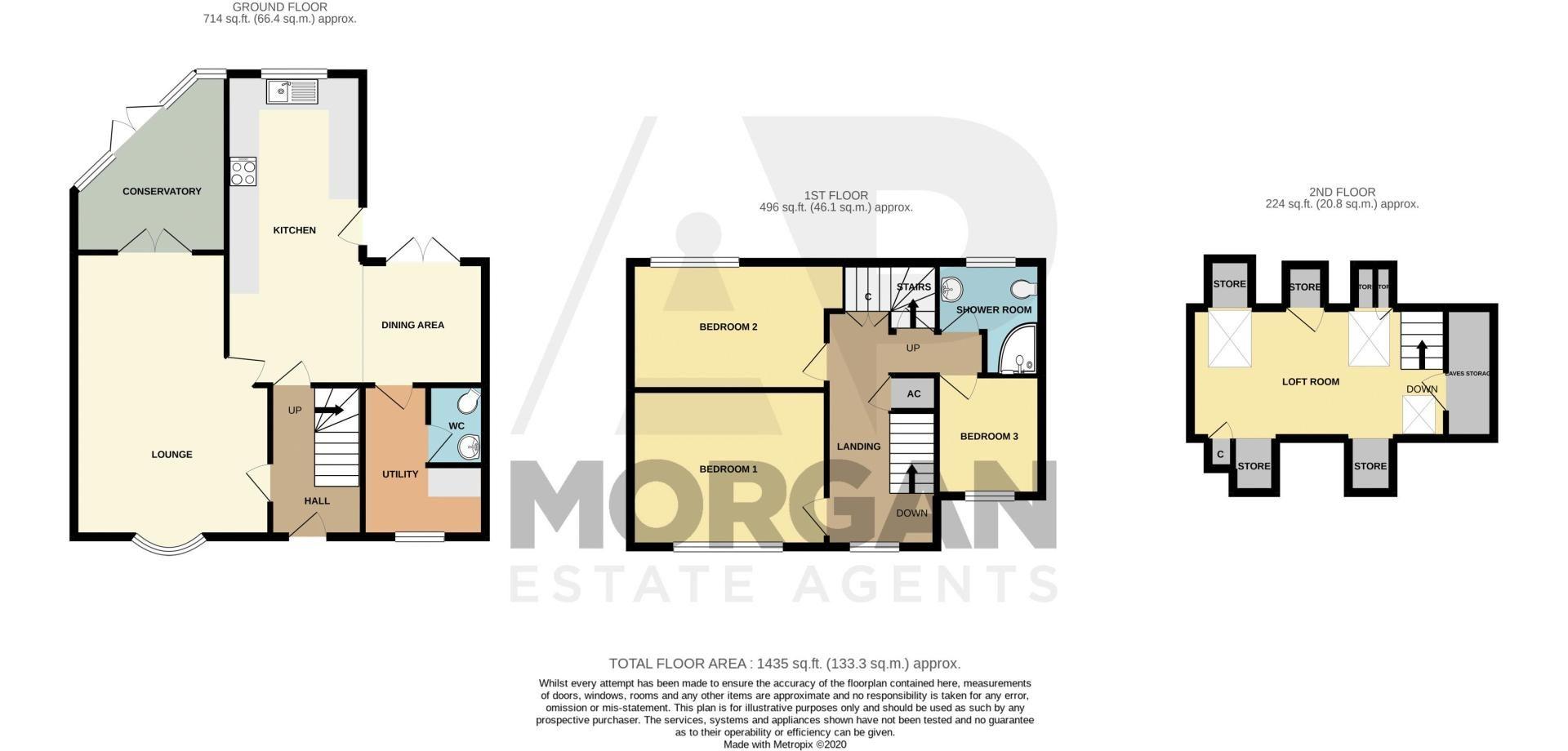 4 bed house for sale in Oak Street - Property Floorplan