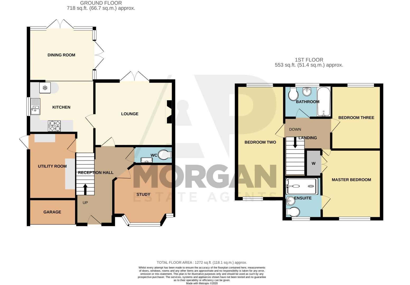 3 bed house for sale in Hoveton Close - Property Floorplan