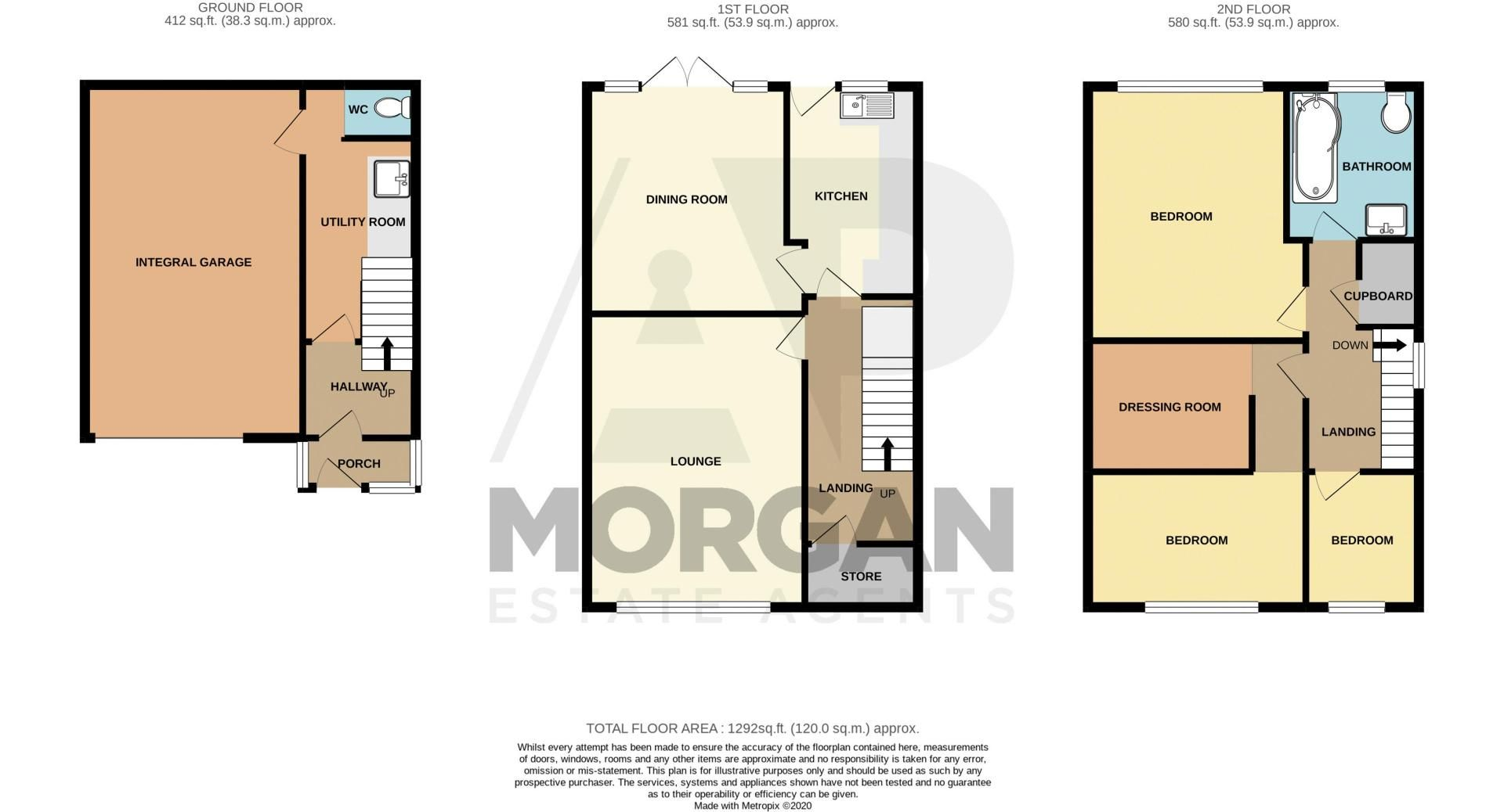 3 bed house for sale in Ferney Hill Avenue - Property Floorplan