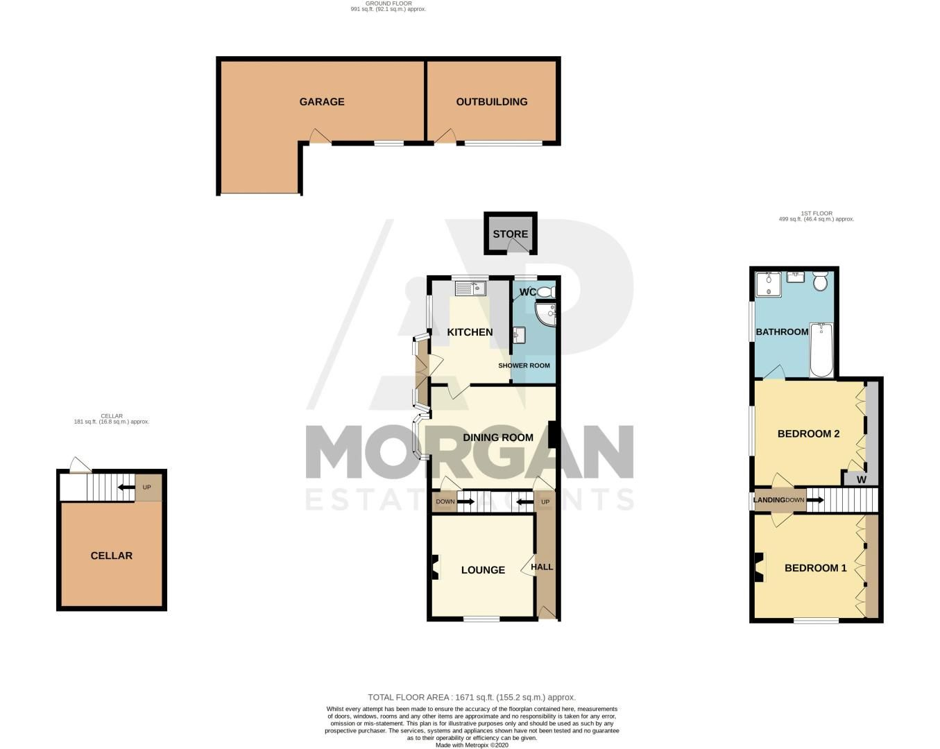2 bed house for sale in Alcester Road - Property Floorplan