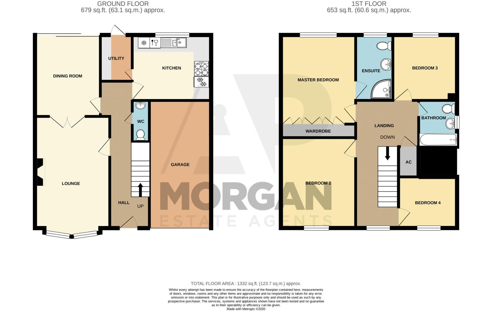 4 bed house for sale in Shireland Lane - Property Floorplan