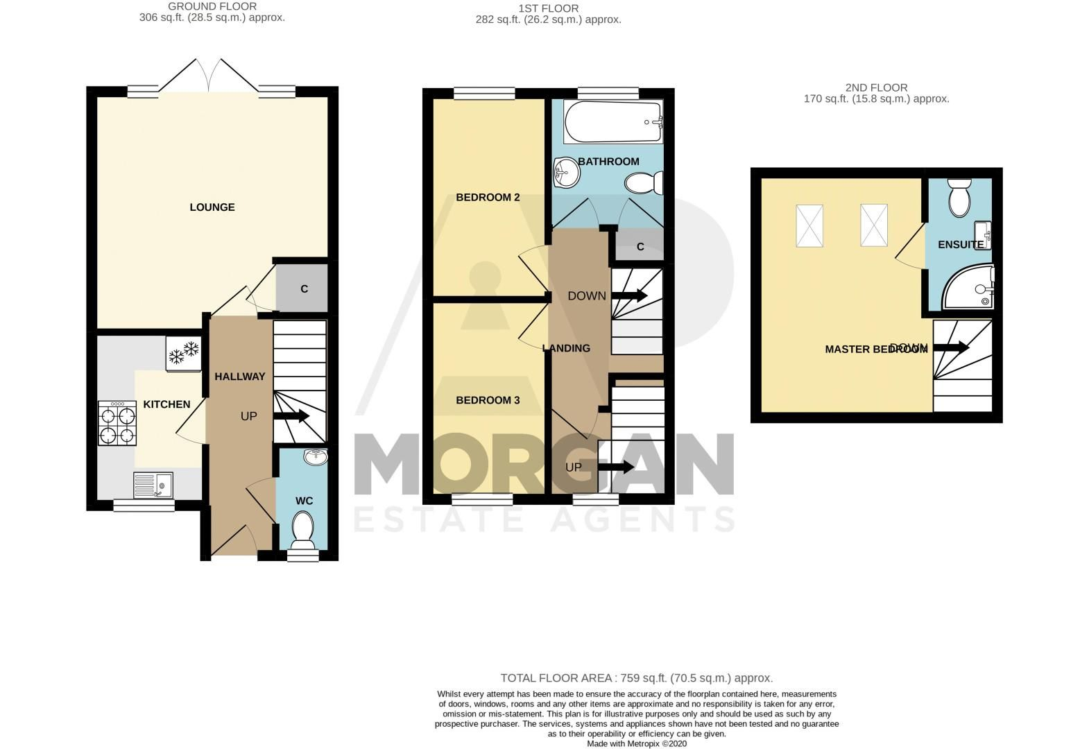3 bed house for sale in Bewell Head - Property Floorplan