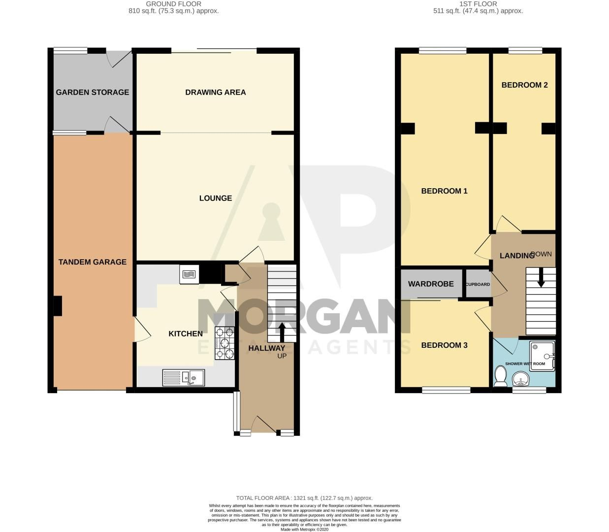 3 bed house for sale in Moorfield Drive - Property Floorplan
