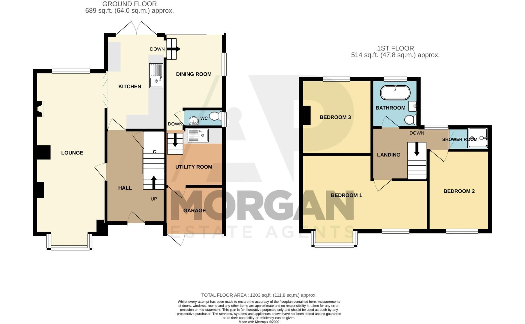 3 bed house for sale in The Slough - Property Floorplan