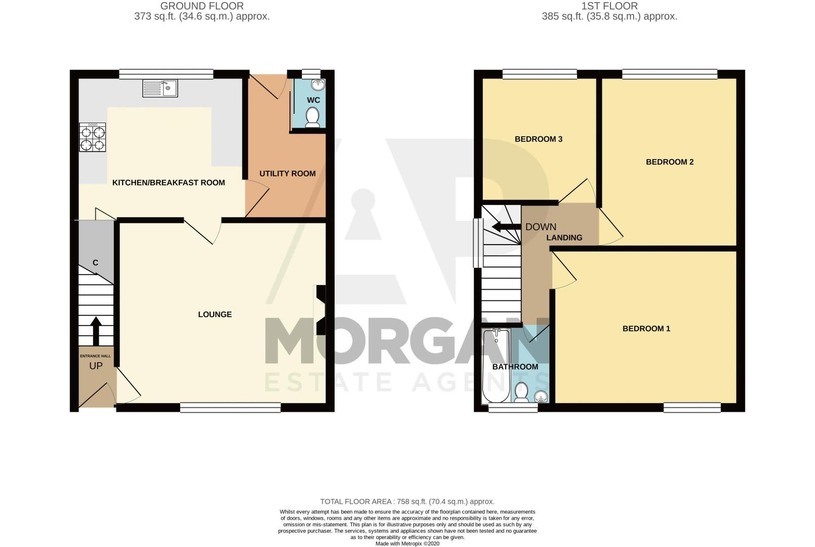 3 bed house for sale in Abbey Road - Property Floorplan