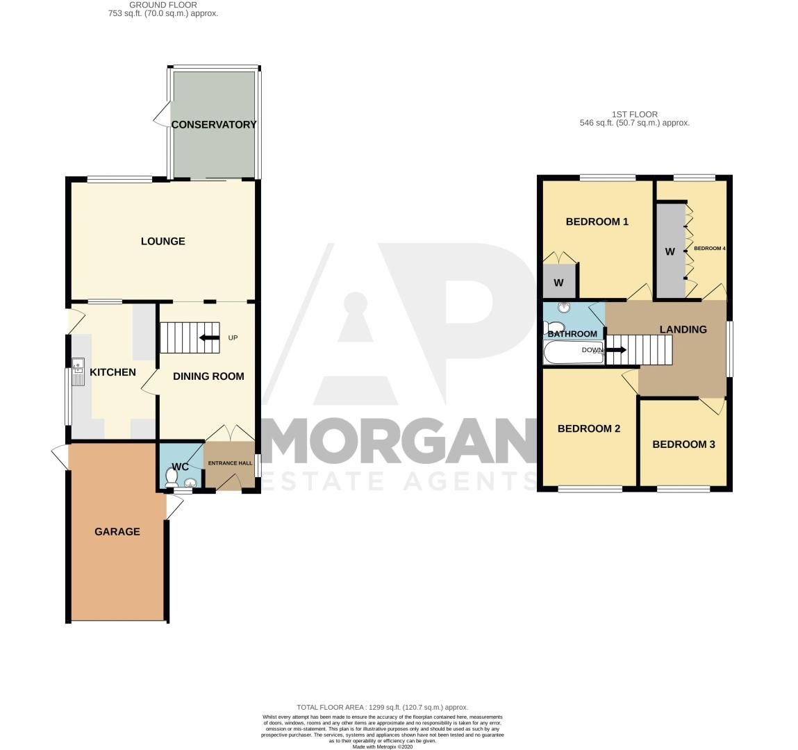 4 bed house for sale in Hamilton Avenue - Property Floorplan