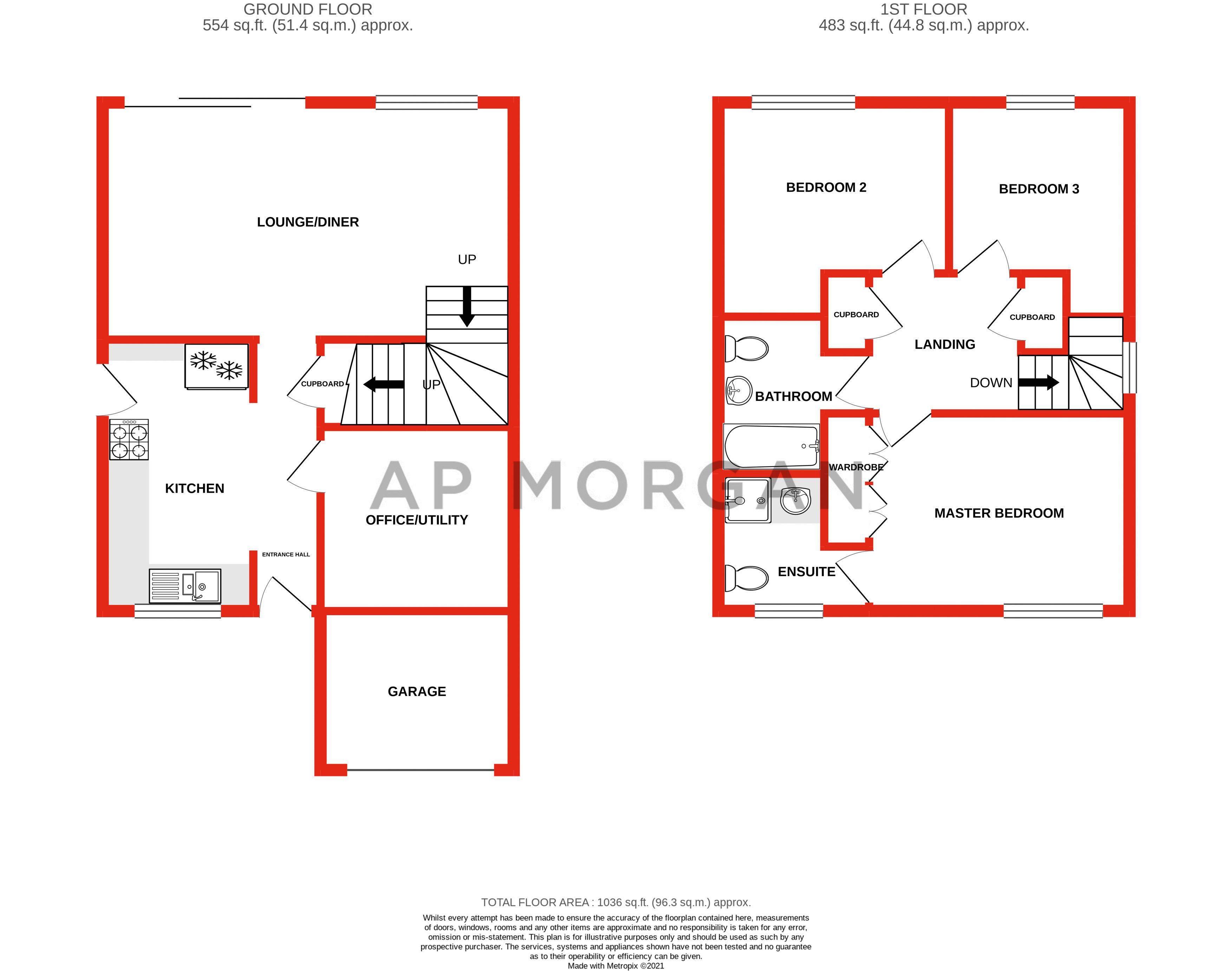 3 bed house for sale in Wroxall Close - Property Floorplan