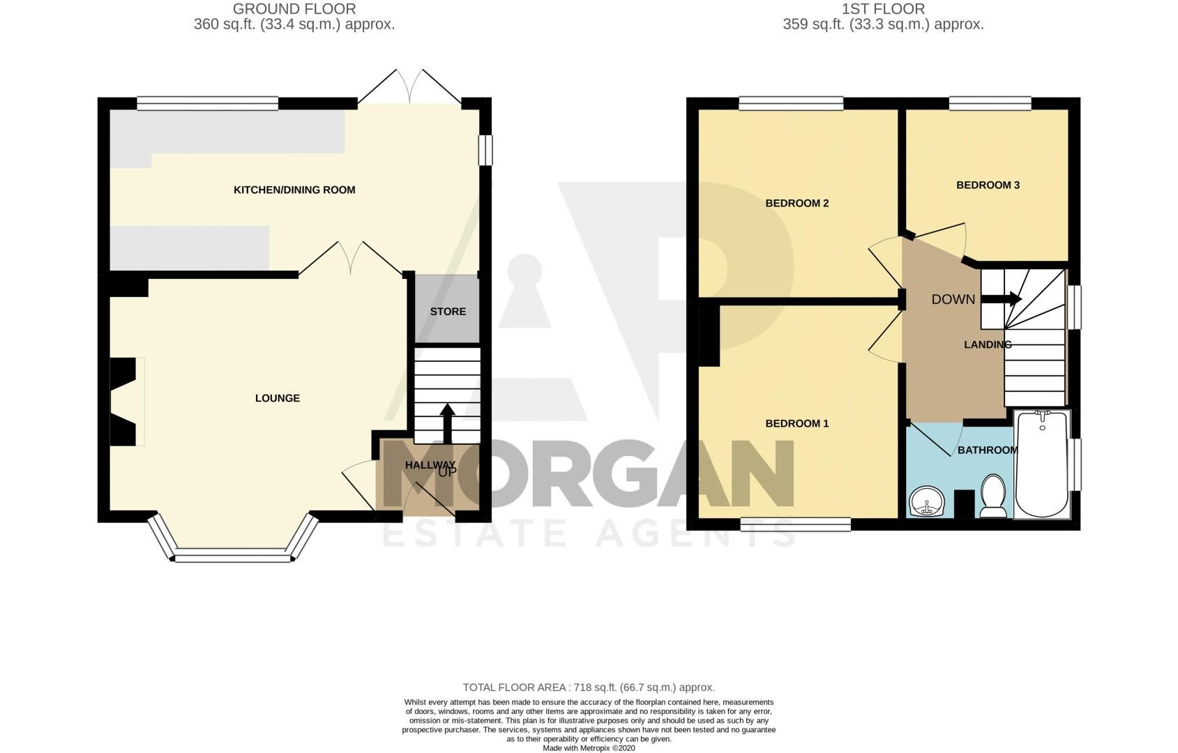 3 bed house for sale in King Edward Road - Property Floorplan