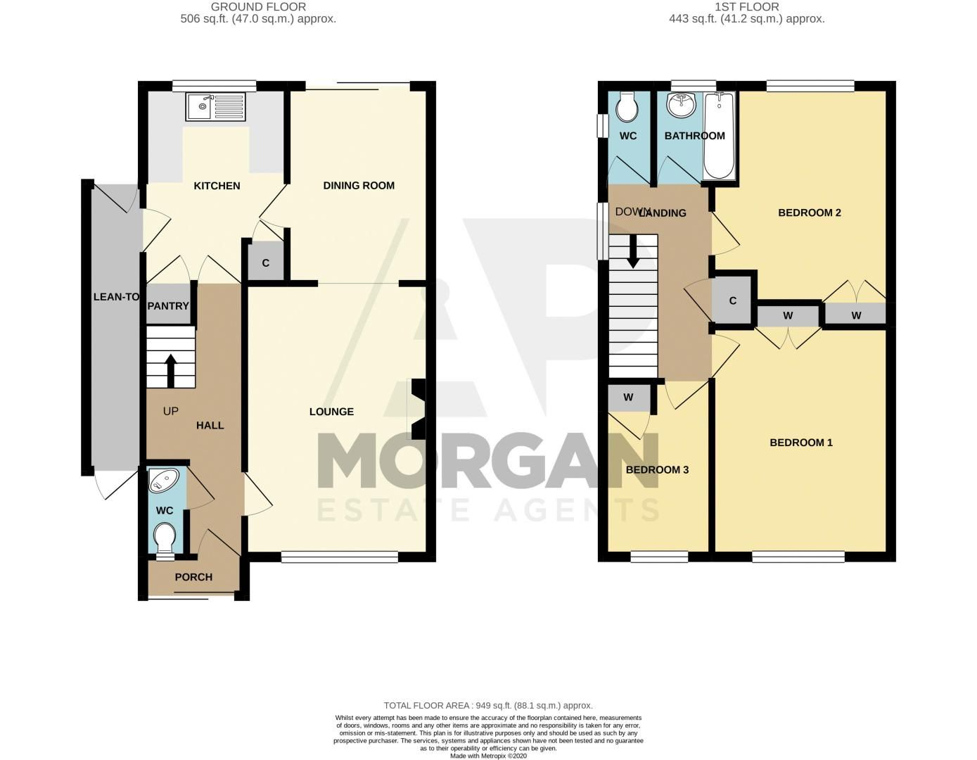 3 bed house for sale in Whitney Avenue - Property Floorplan