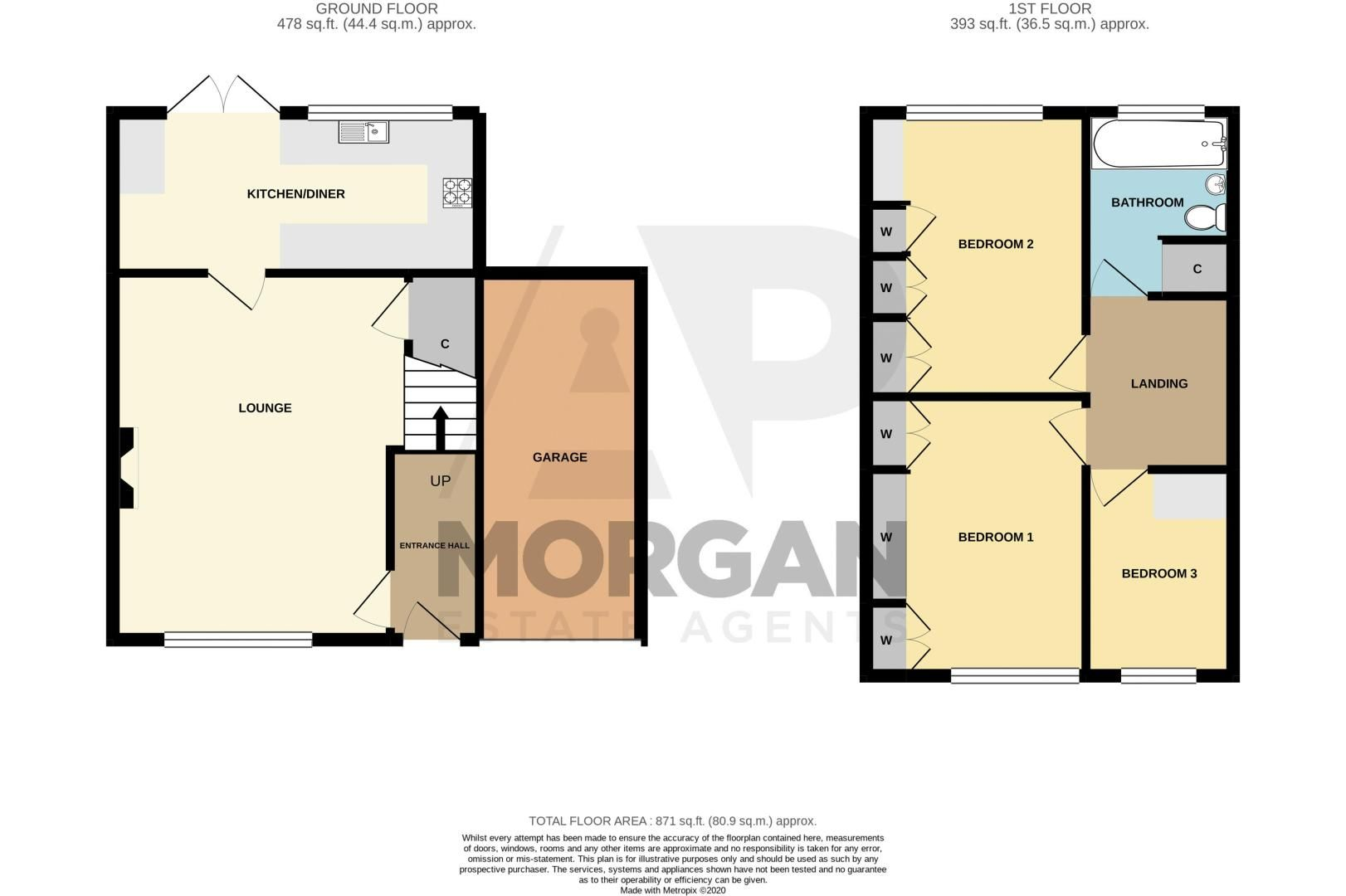 3 bed house for sale in Ravensitch Walk - Property Floorplan