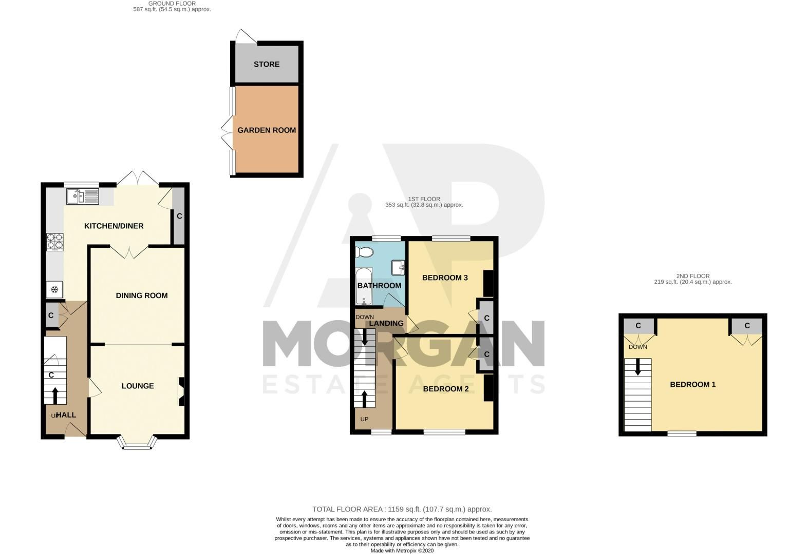 3 bed house for sale in Church Street - Property Floorplan