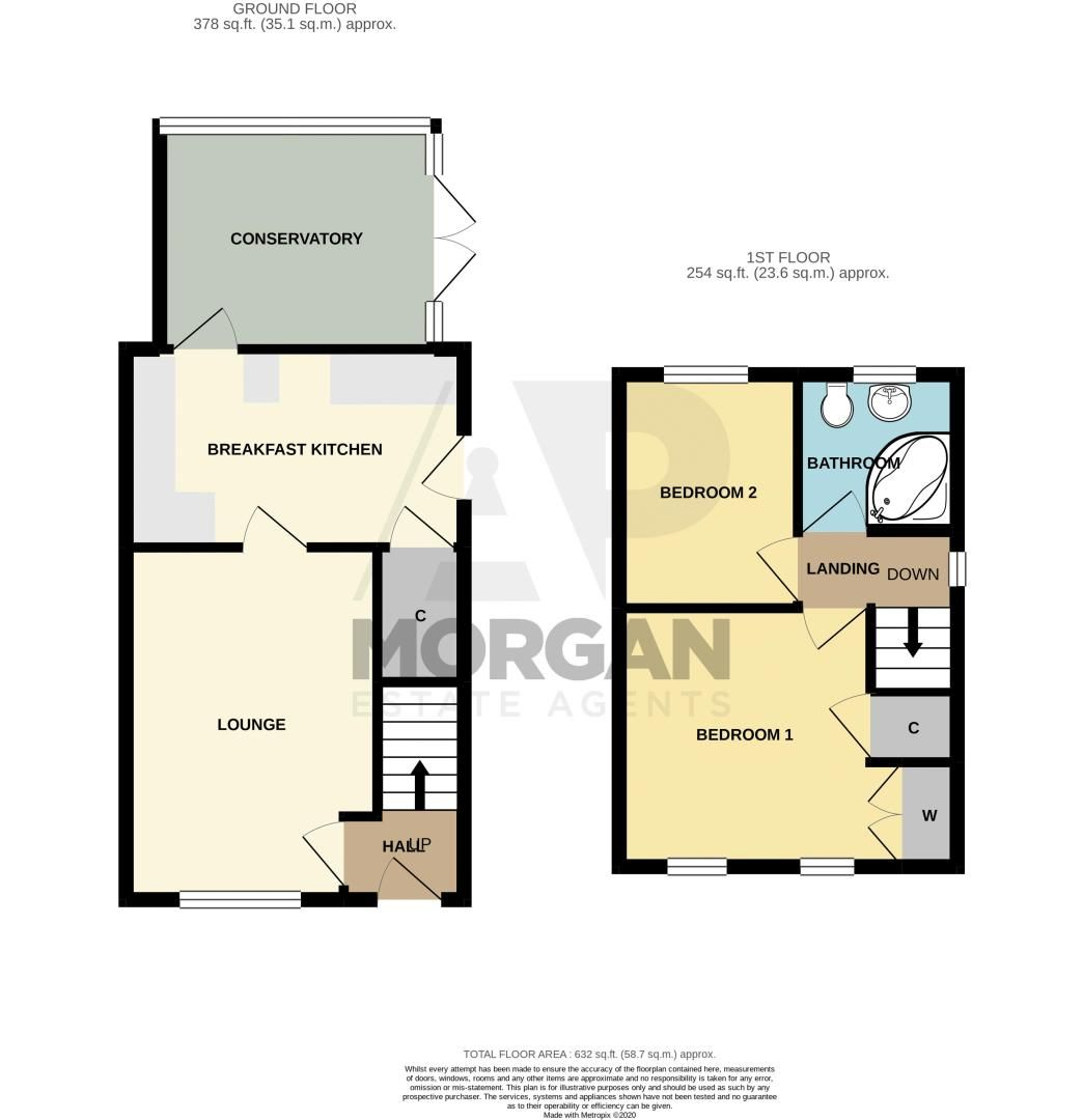 2 bed house for sale in Brayford Avenue - Property Floorplan