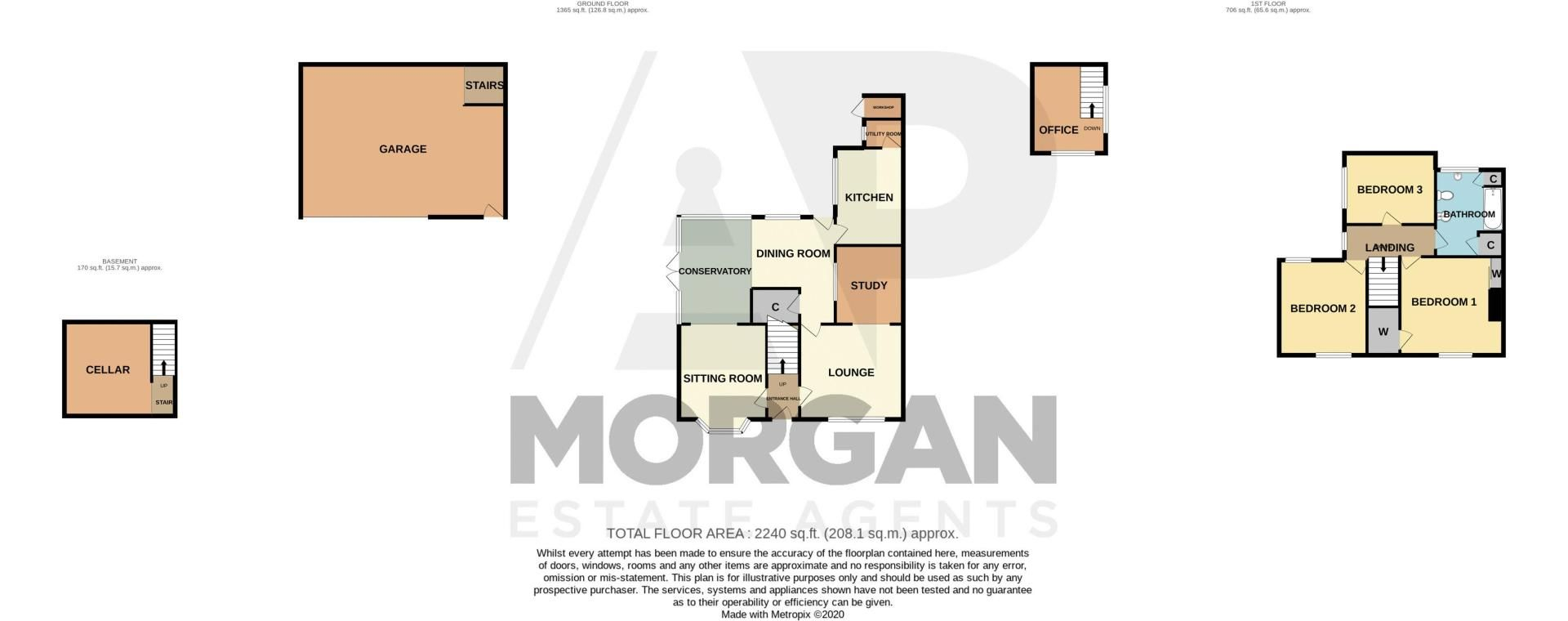 3 bed house for sale in Mount Road - Property Floorplan