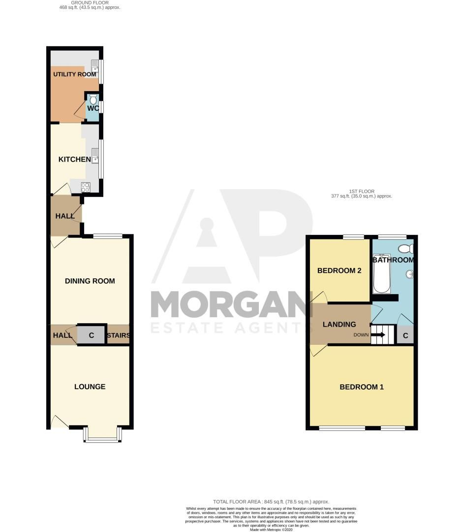 2 bed house for sale in Halesowen Road - Property Floorplan