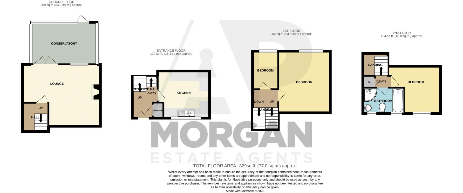 3 bed house for sale in Byland Close - Property Floorplan