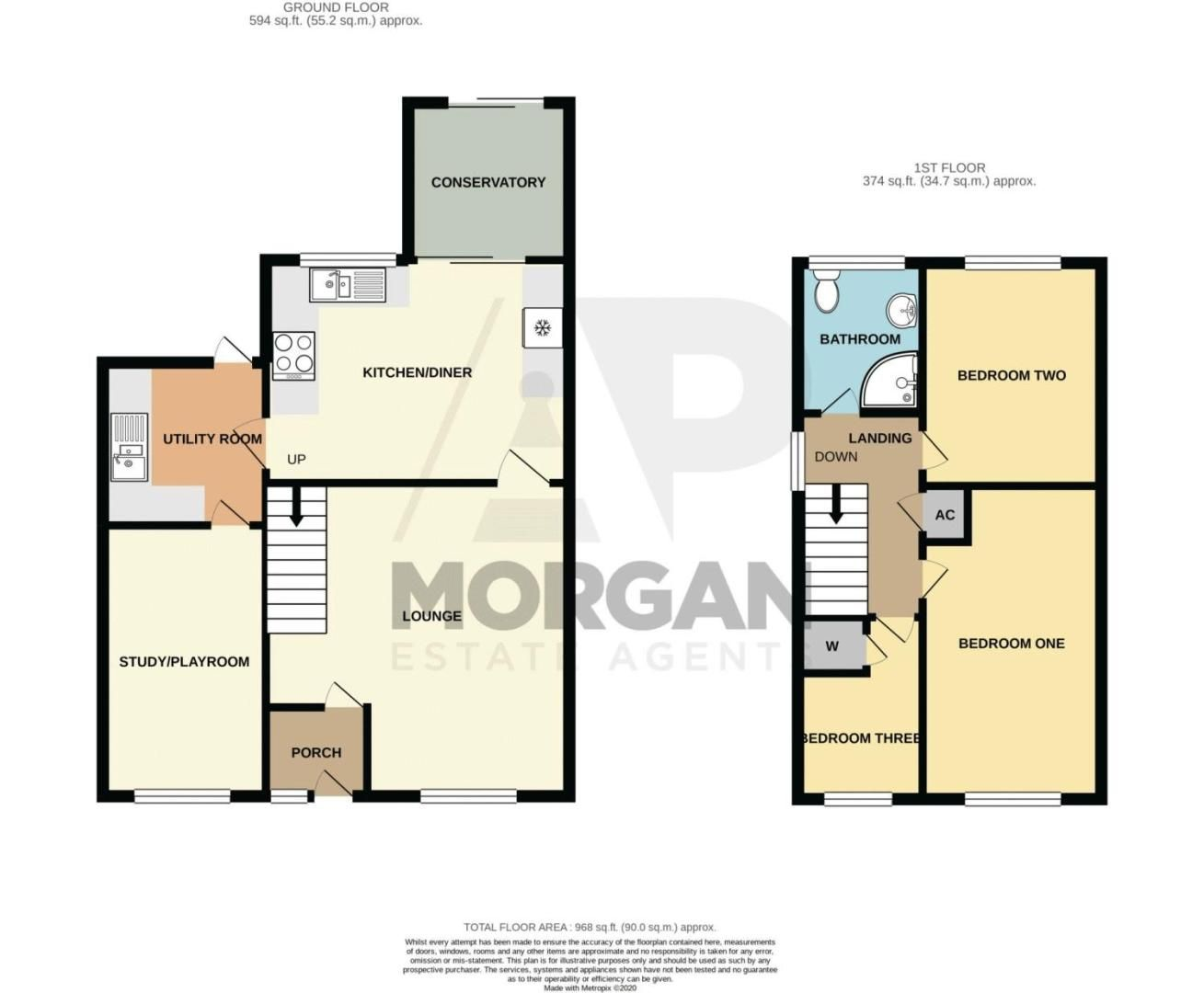3 bed house for sale in Salford Close - Property Floorplan